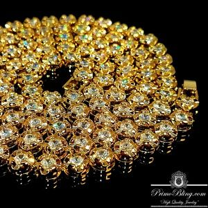 "18k Gold Plated Lab Simulated 36"" Bezel Chain"